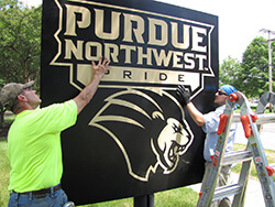 Purdue University Northwest sign placement