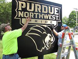 Purdue University Northwest sign placement