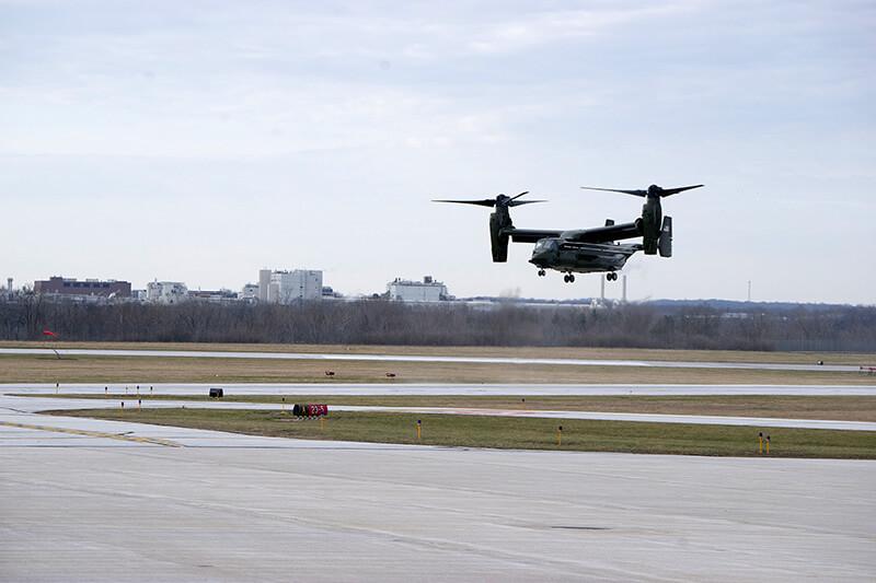 Osprey lands
