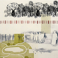 Global Matrix print by Miriam Rudolph