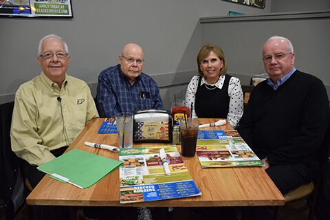 John Sautter, Gerald Krockover, Nancy Cross and Don Gentry