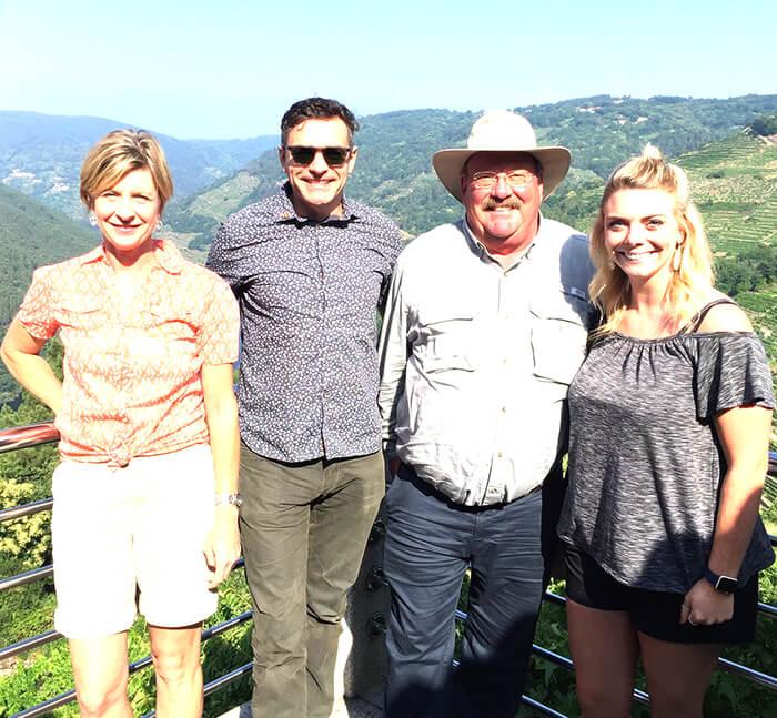 Wine tour team