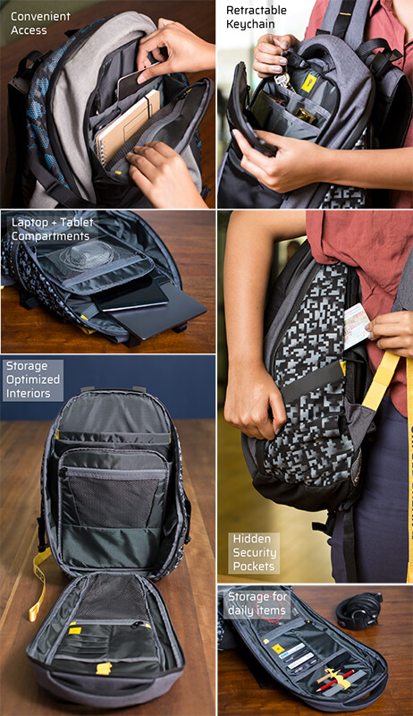 Backpack collage