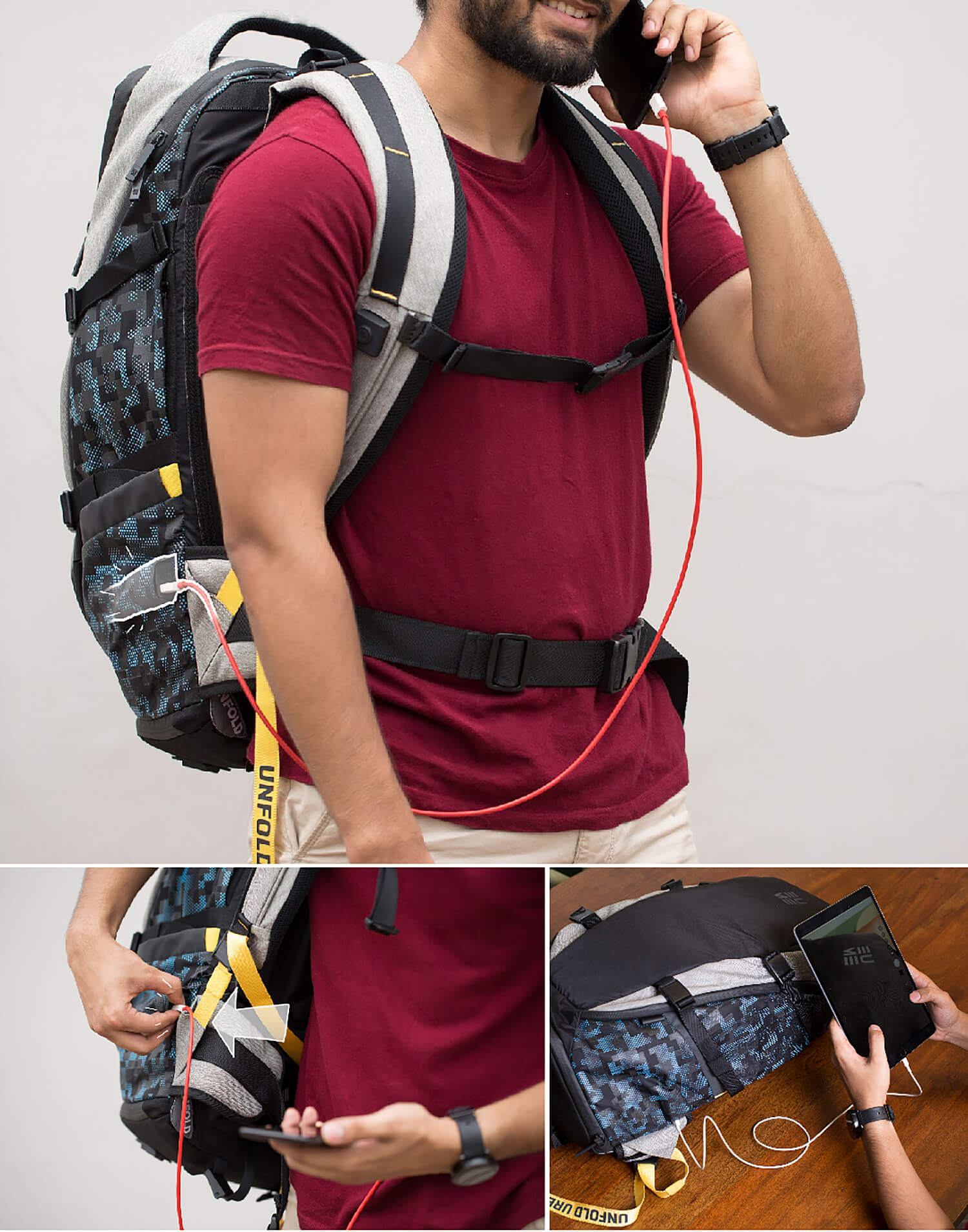 put back pain behind you purdue student creates built in backpack
