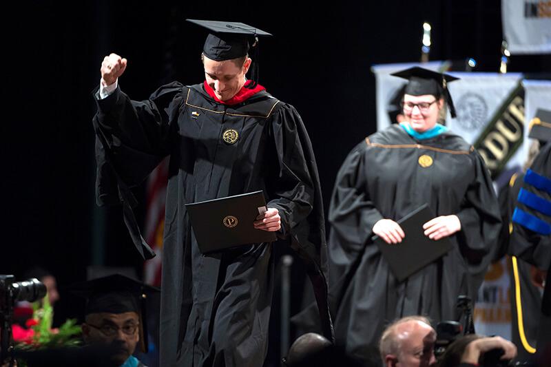 New graduate celebrates