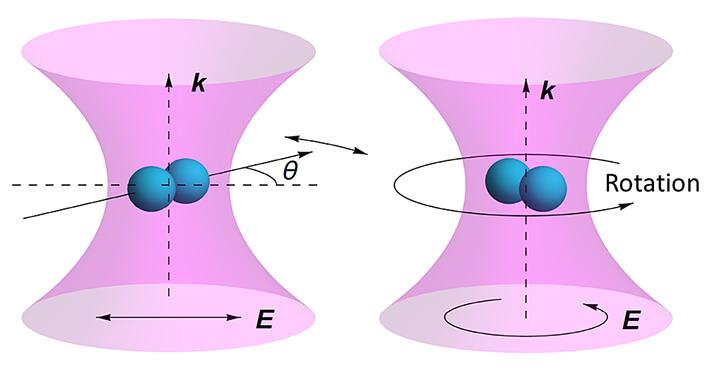 Nanodumbbell leviated