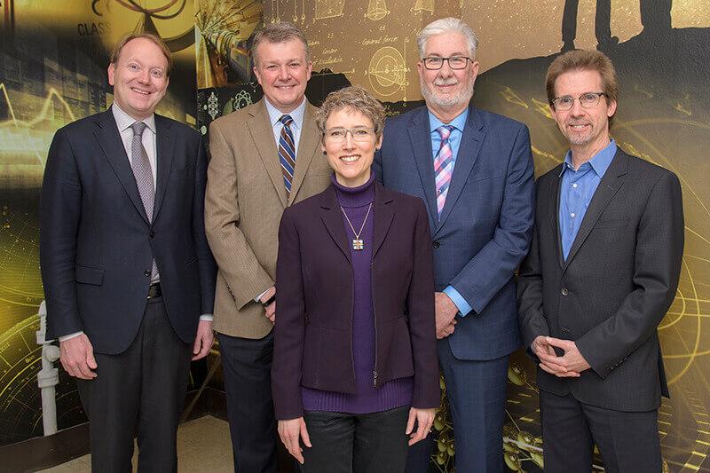 Patrick J. Wolfe, Jay Akridge, Erica Carlson, John Finley and Peter Hollenbeck