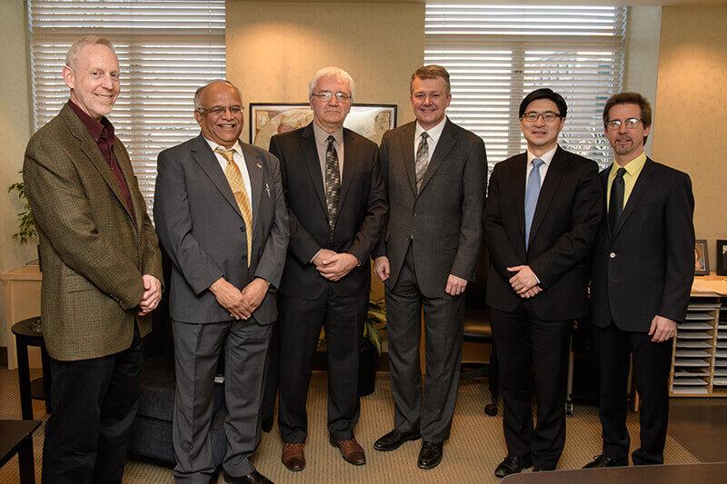 James Jones, Jay Gore, Chuck Krousgrill, Jay Akridge, Mung Chiang, and Peter Hollenbeck