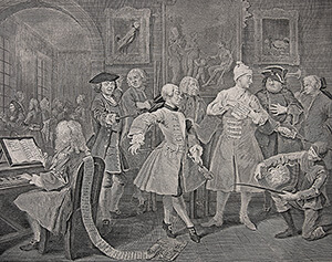 Hogarth engraving at Galleries