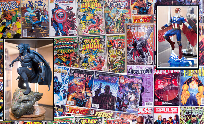 Comic books and action figures