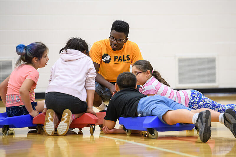 PALS campers learn about upper body strength