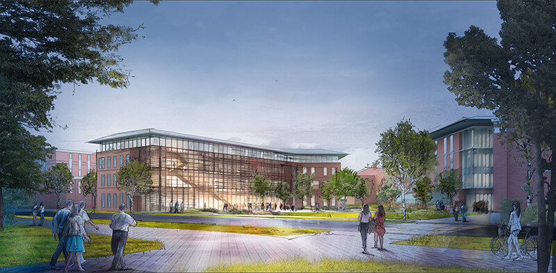 rendering of data science building
