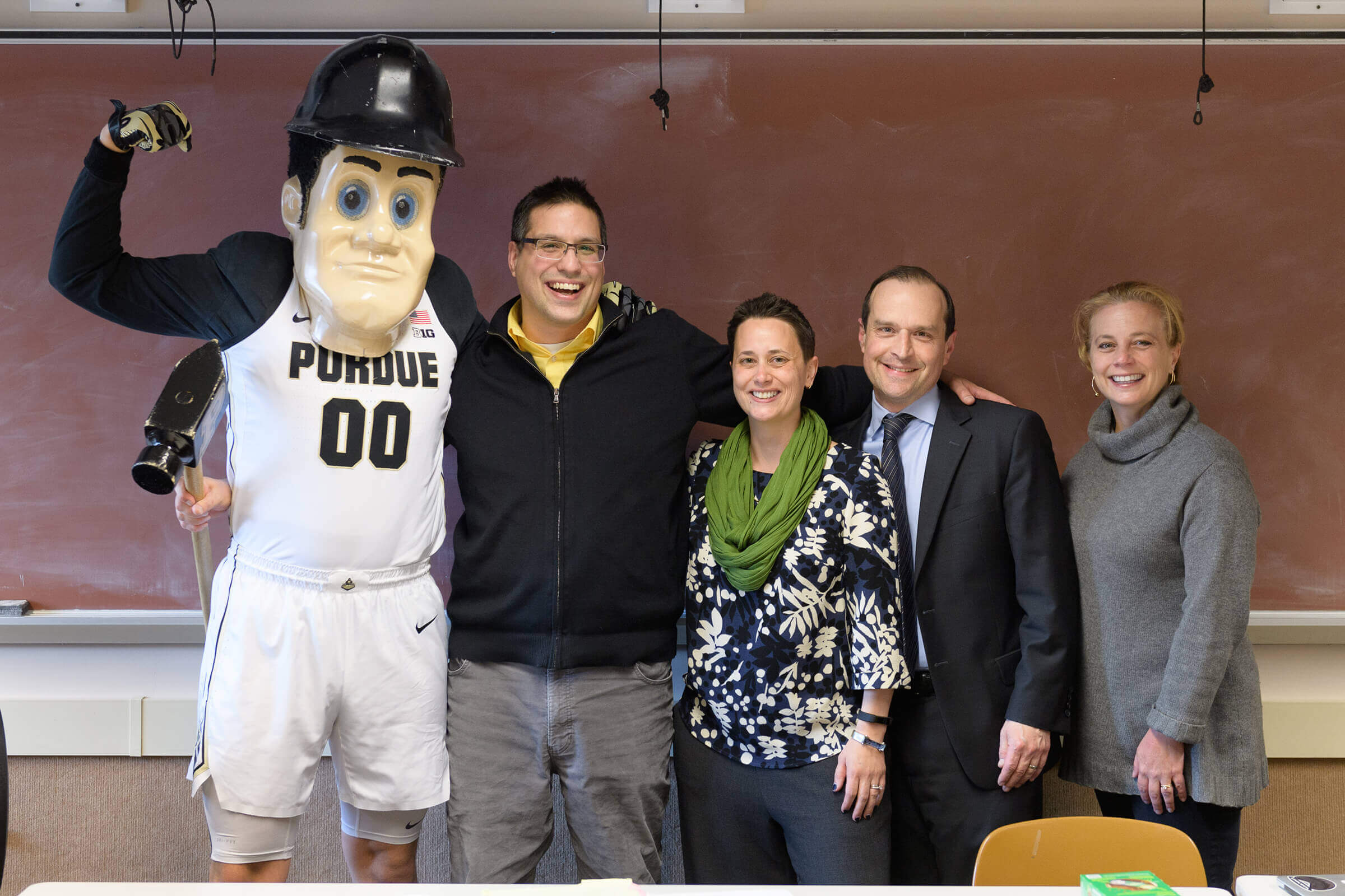 Purdue Pete; Derek Pacheco, Nush Powell, David Reingold, Dorsey Armstrong