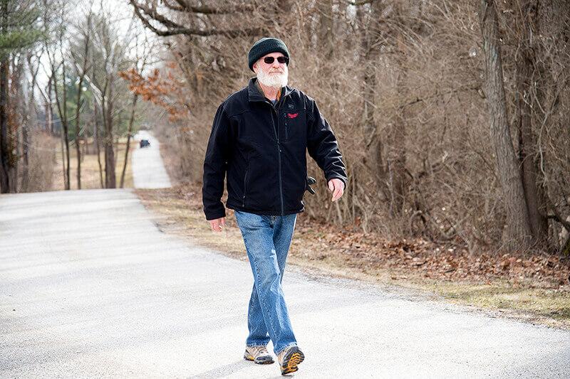 Stephen Scott walking