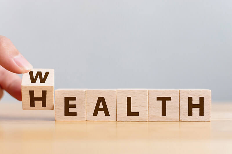 block letters that spell health
