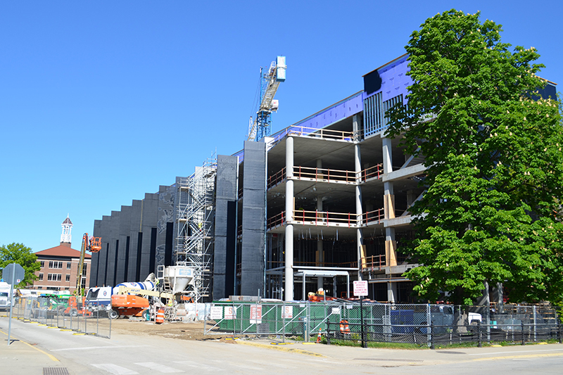 Construction on Dudley Hall and Lambertus Hall