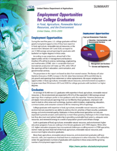 2020 USDA Employment Outlook Summary Download